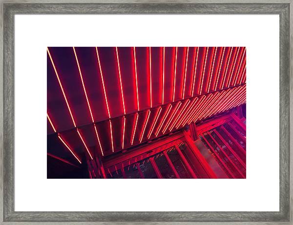 Neon Lit Entrance Framed Print by Marcus Lindstrom