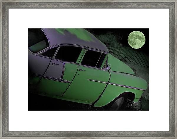 Neon Night Framed Print