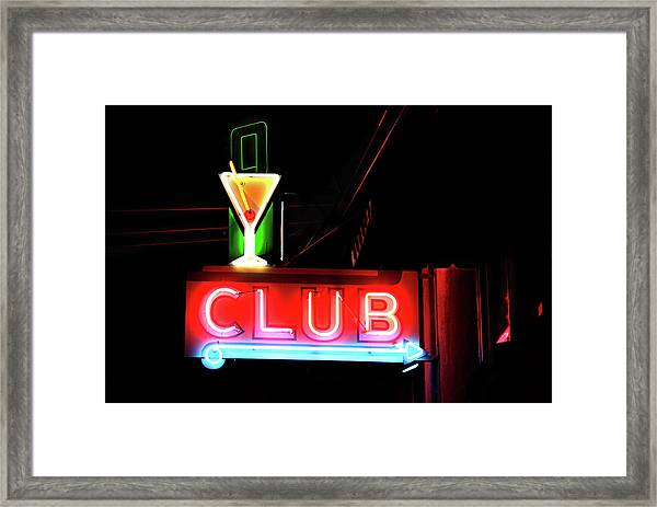 Neon Sign Club Framed Print