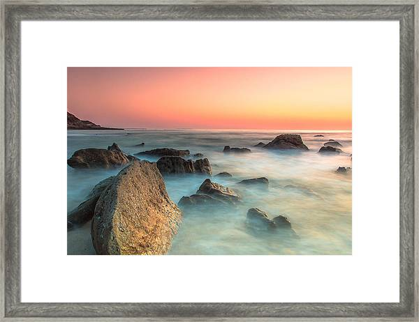 Neptune Lands Framed Print