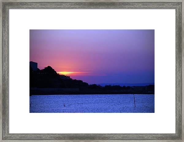 Nessebar Sunse  Framed Print