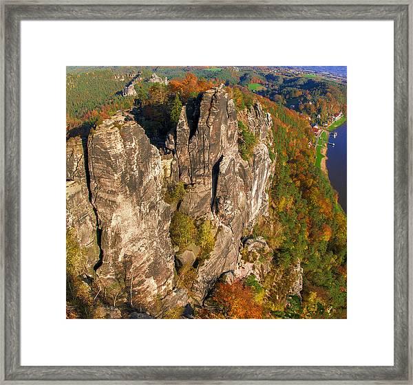 Neurathen Castle In The Saxon Switzerland Framed Print