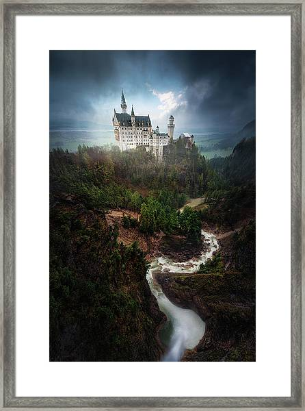 Neuschwanstein. Framed Print by Juan Pablo De