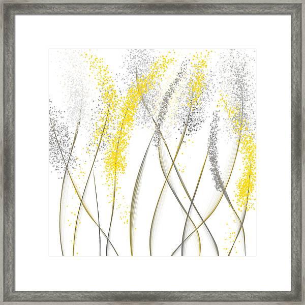Neutral Sunshine - Yellow And Gray Modern Art Framed Print