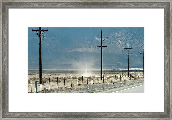 Nevada Dust Devil Framed Print