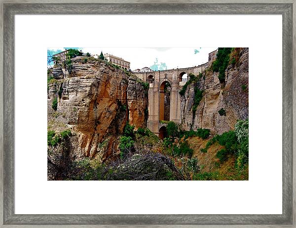 Framed Print featuring the photograph New Bridge by HweeYen Ong
