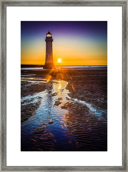 New Brighton Lighthouse Framed Print