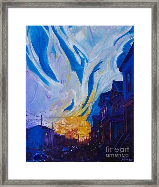 New Brunswick Sunset Framed Print