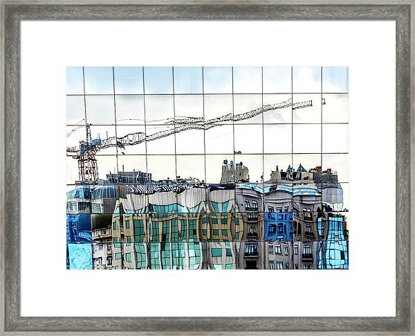 New City In Old City Framed Print
