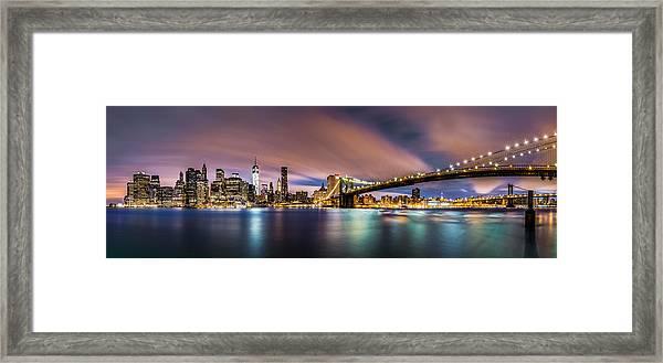 New Dawn Over New York Framed Print