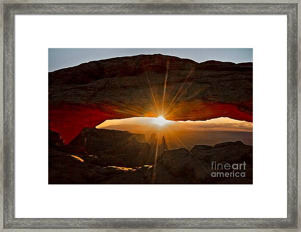 Framed Print featuring the photograph New Day by Mae Wertz