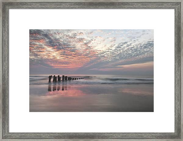 New Day Sunrise Sunset Image Art Framed Print