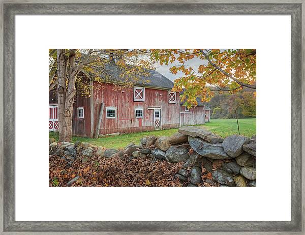New England Barn Framed Print