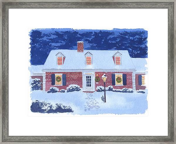 New England Christmas Framed Print