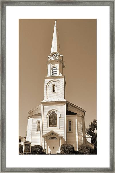 New England Church Steeple Framed Print