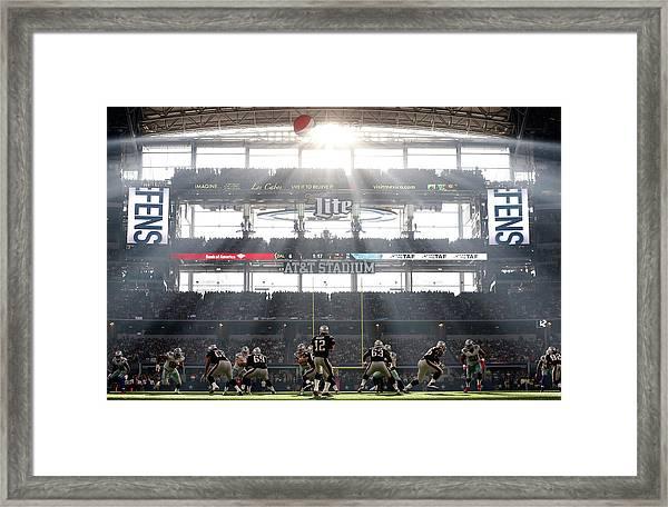 New England Patriots V Dallas Cowboys Framed Print by Christian Petersen