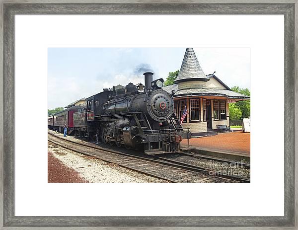 New Hope Station Framed Print