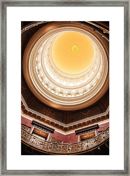 New Jersey Statehouse Dome Framed Print