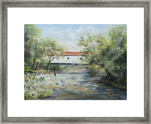 New Jersey's Last Covered Bridge Framed Print