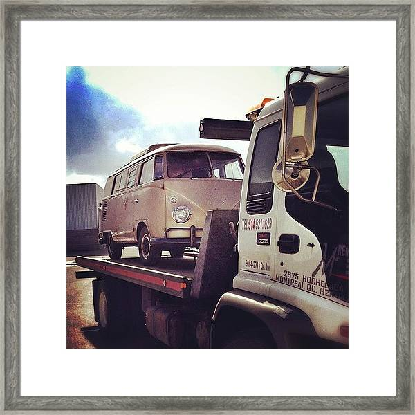 New Life And Look Soon! #vw #bus #67 Framed Print