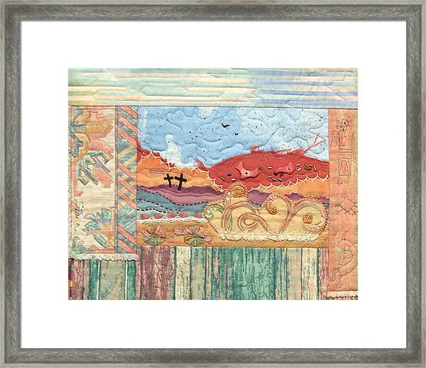 New Mexican Lanscape Framed Print
