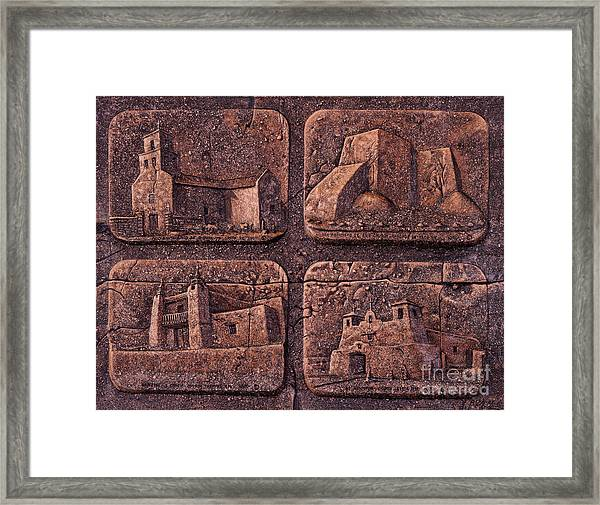 New Mexico Churches Framed Print