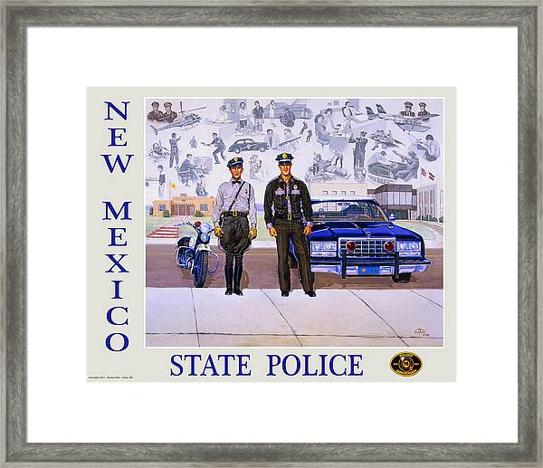 New Mexico State Police Poster Framed Print