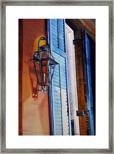 New Orleans At Night Framed Print