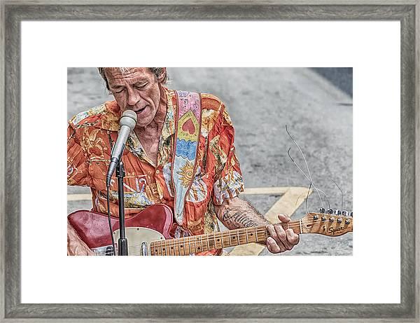 New Orleans Guitar Man Framed Print