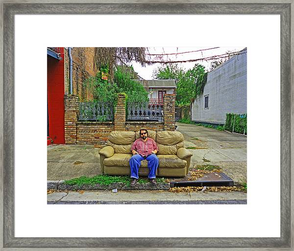 New Orleans Street Couch Framed Print
