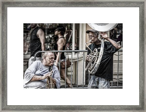 New Orleans Street Jam Framed Print