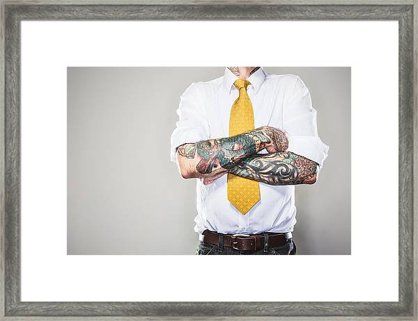 New Professional With Tattoos Framed Print by RyanJLane