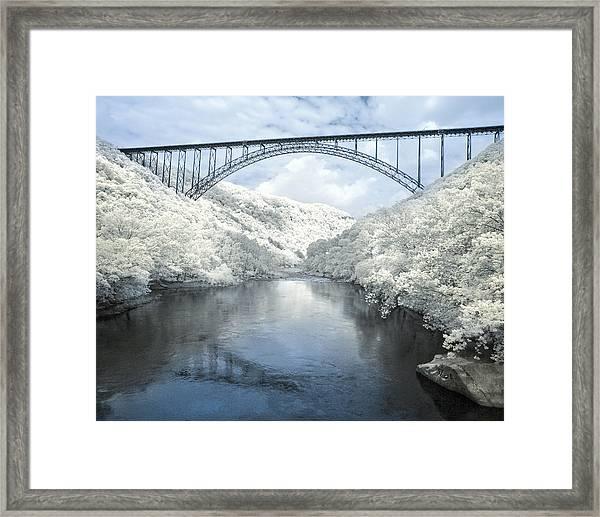 New River Gorge Bridge In Infrared Framed Print