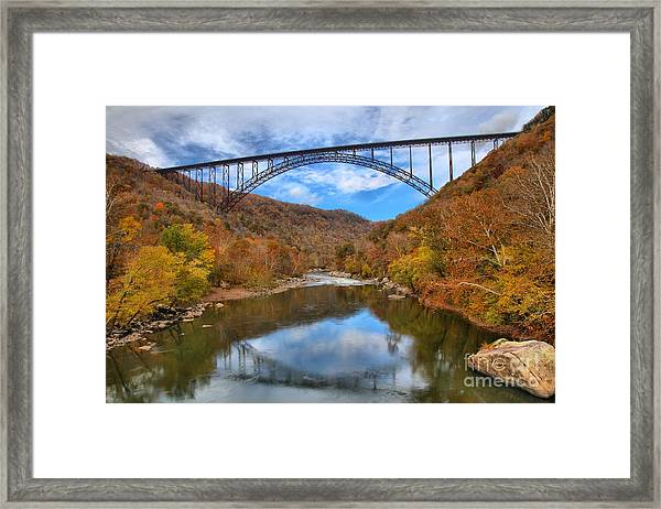 New River Gorge Reflections Framed Print