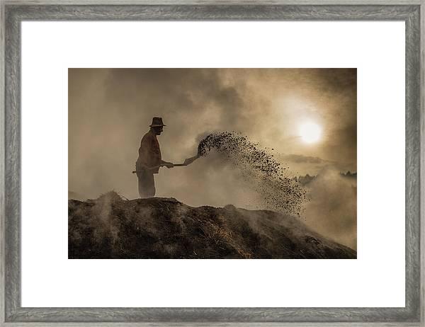 New World Creation Framed Print by Adrian Popan