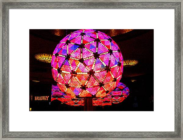 New Year's Ball Framed Print