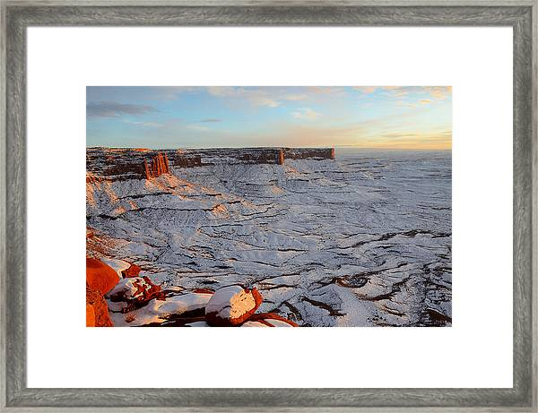 New Years Eve Sunset At Island In The Sky Framed Print