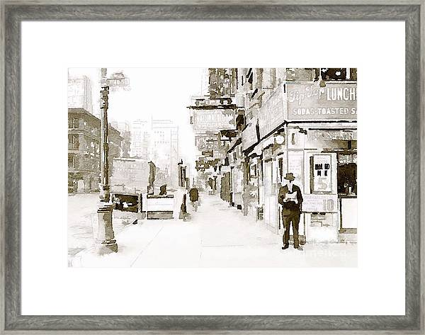 New York 1940 Framed Print