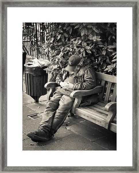 New York Bum In Westminster Framed Print