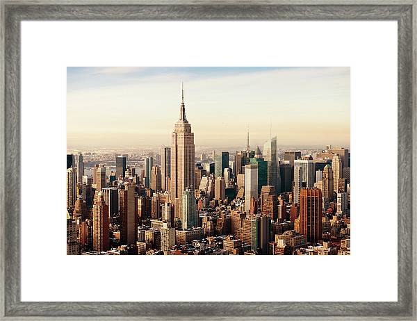 New York City As Seen From Above Framed Print
