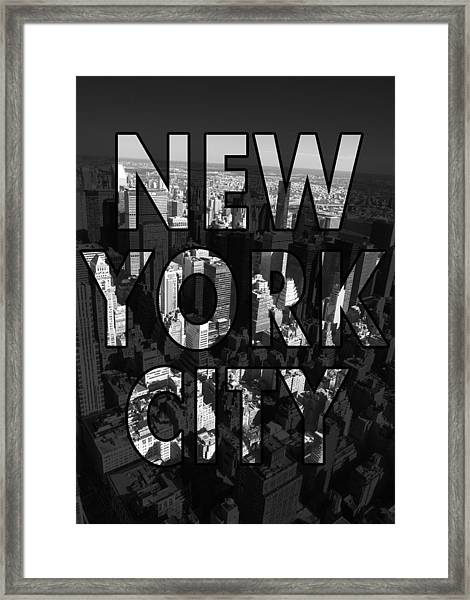 New York City - Black Framed Print