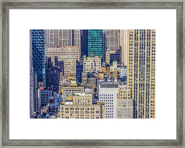New York City Buildings Abstract Framed Print