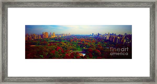 New York City Central Park South Framed Print
