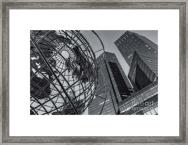New York City Columbus Circle Landmarks II Framed Print