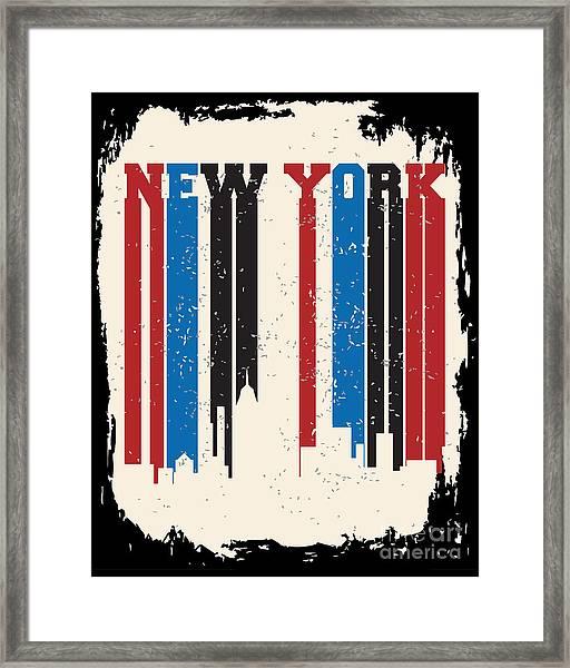 New York City Concept. Logo. Label Framed Print
