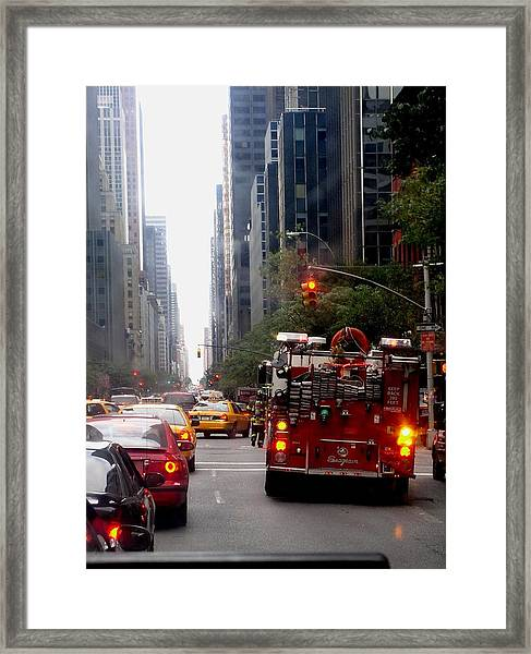 New York City Fire Department Truck Nyfd 2005 Framed Print