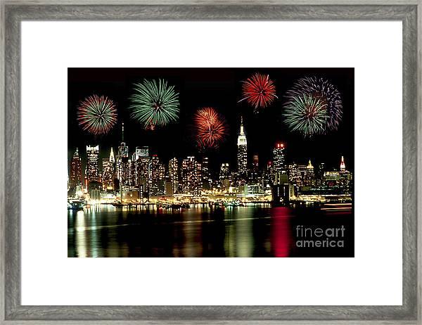 New York City Fourth Of July Framed Print