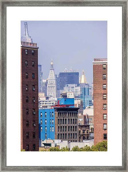 New York City From Brooklyn Bridge Framed Print