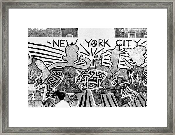 New York City Graffiti Framed Print