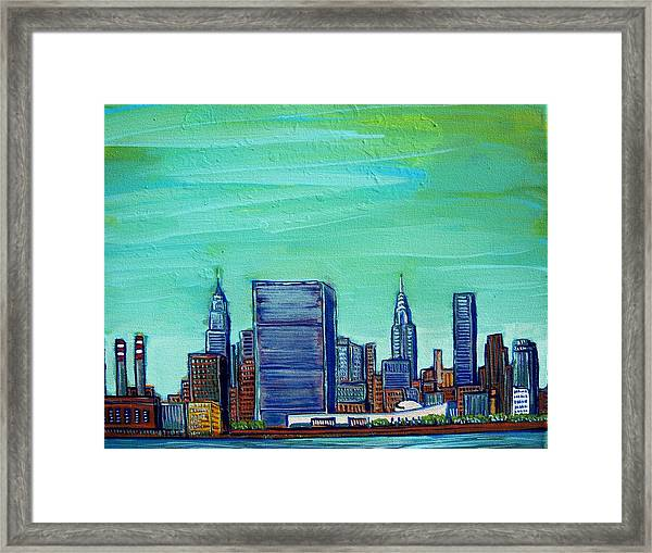 New York City Midtown Framed Print by Mitchell McClenney